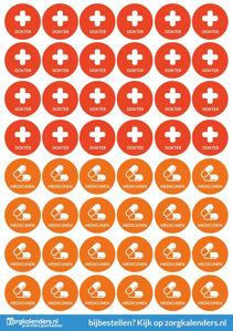 Stickervellen Dokter/Medicijnen