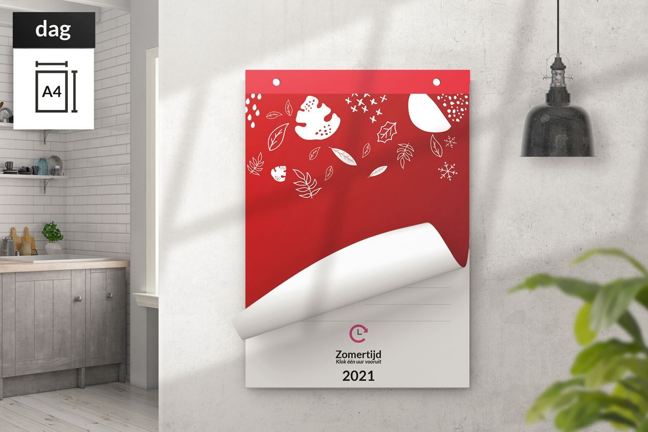 Afbeelding van Dagkalender A4 staand scheurkalender (2021)