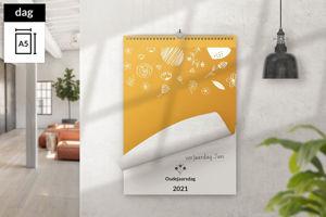 Afbeelding van Dagkalender A5 staand met ophang haak (2021)