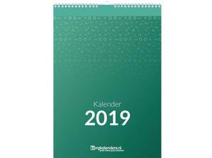 Dagkalender A5, met ophang haak, voorbeeld inhoud