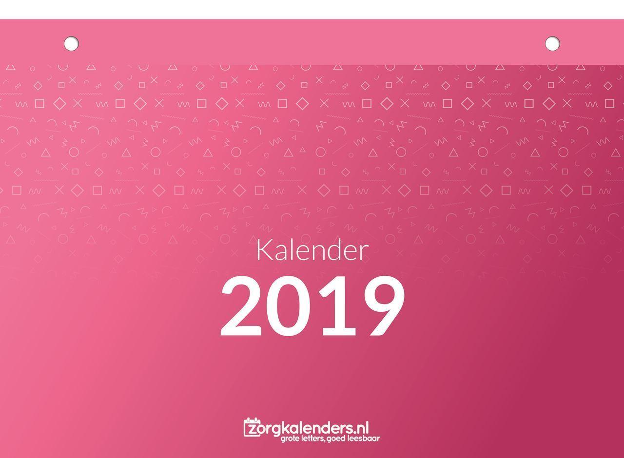 Dagkalender A5, scheurkalender, voorbeeld voorzijde 2019