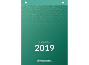 Weekkalender A4, scheurkalender, voorzijde
