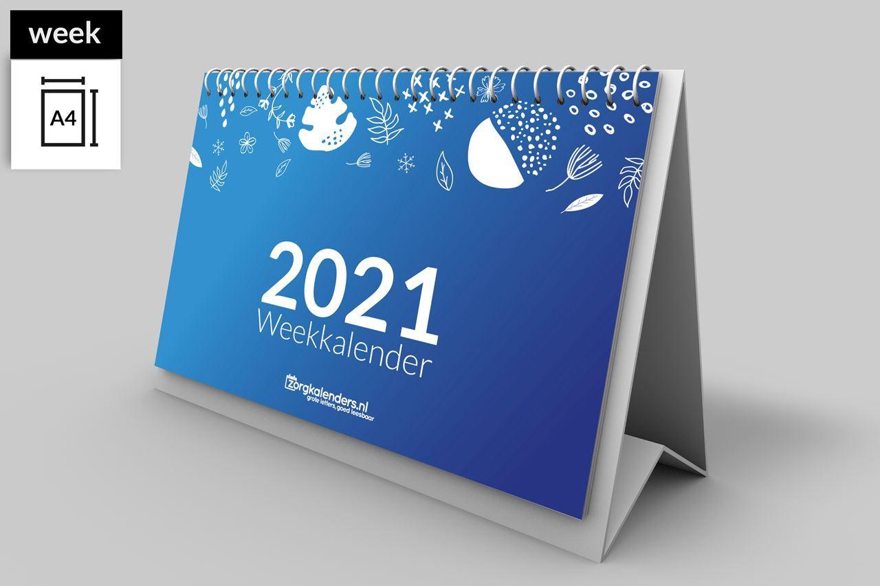 Afbeelding van Bureau weekkalender A4 liggend (2021)