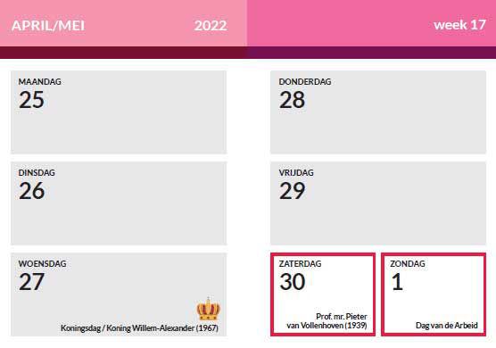 Weekoverzicht 2022