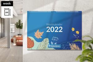 Weekkalender A4 liggend met ophang haak