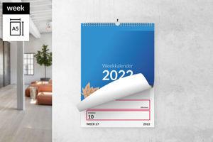 Weekkalender A5 staand met ophang haak